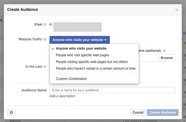 FB Custom Website Traffic different reach