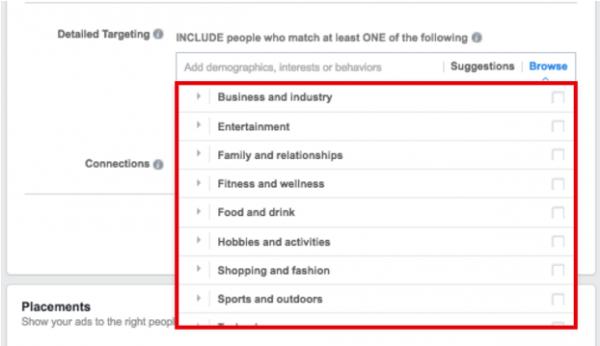 FB Interest Based Targeting