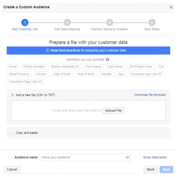 FB Create Custom File