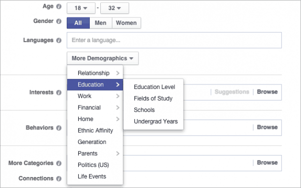 FB Demographic Targeting