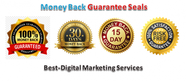Money Back Guarantee Seals-Badges