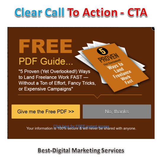 Not Clear Call To Action - CTA