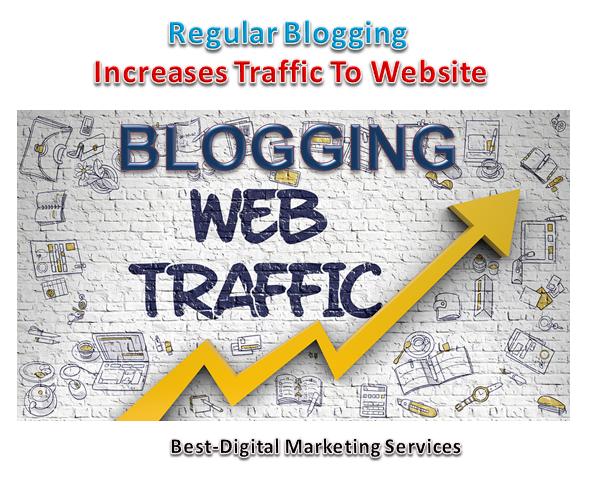 Regular Blogging Increase traffic to Website