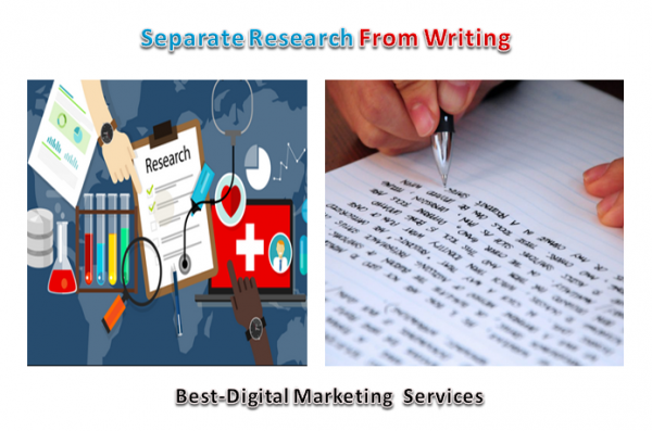Separate Research From Writing