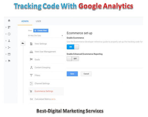 Tracking Code With Google Analytics