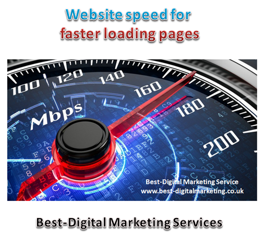 Website speed for faster loading pages