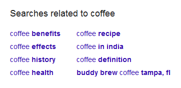 Google search - related keywords