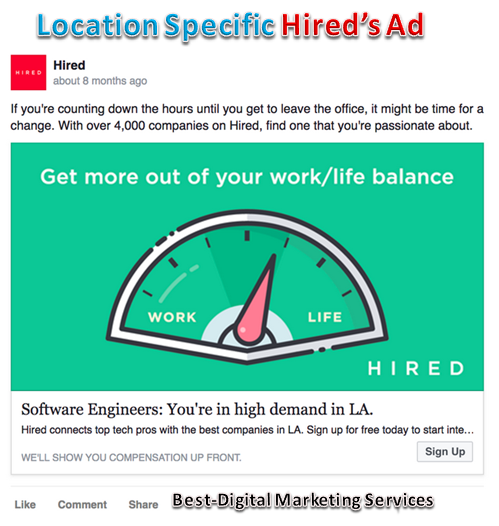 Location Specific Facebook Ads 2