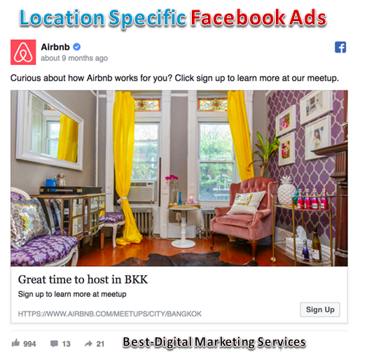 Location Specific Facebook Ads