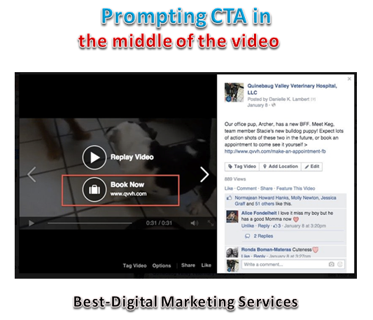 prompting CTA in middle of the Video