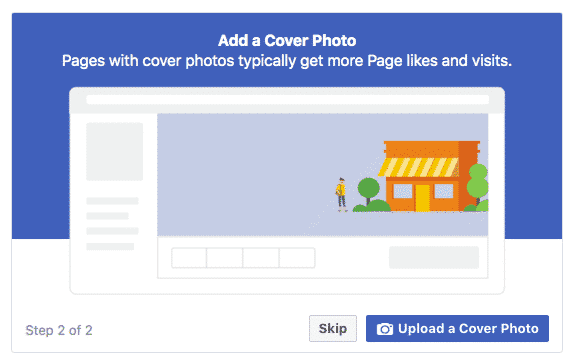 Add a cover photo - picture- video