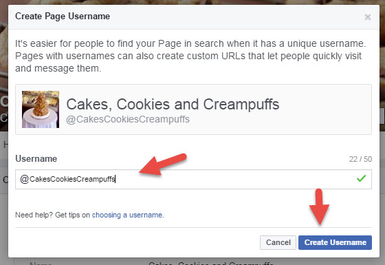 Create Custom Username