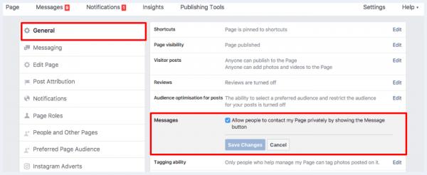 Facebook Messenger Optin
