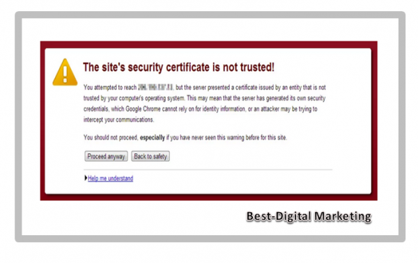Security Certificaate is Not Trusted