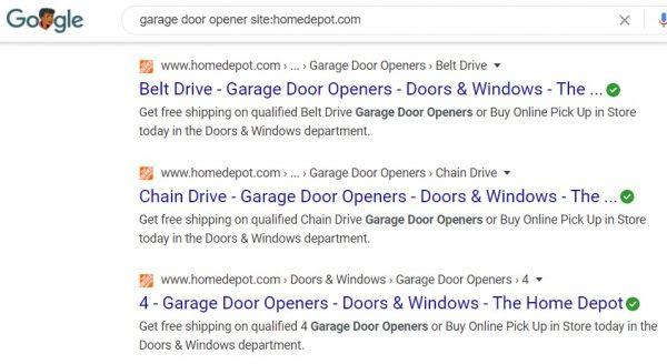 google site -product example