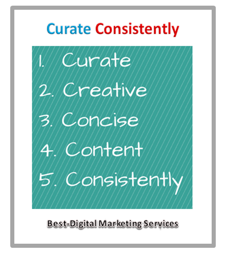 curate consistently