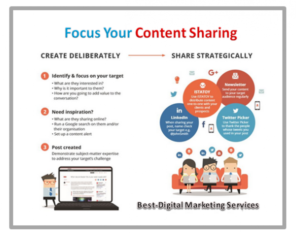 focus on content sharing