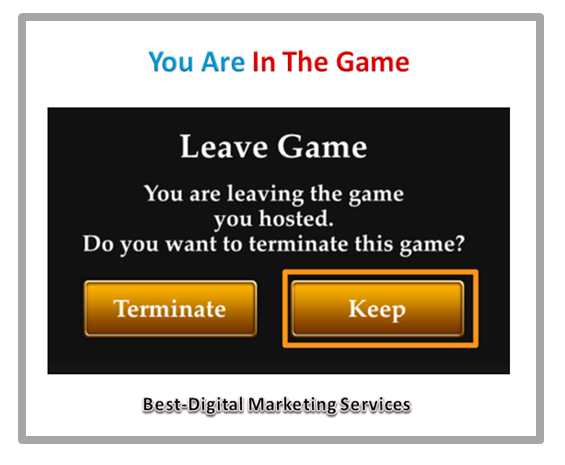 you are in the game