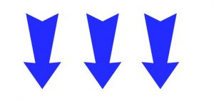 arrow down blue