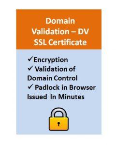 Domain Validation - DV SSL Certificate