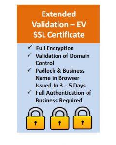 Extended Validation - (EV) SSL Certificate