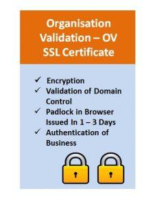 Organisation Validation - OV SSL Certificate