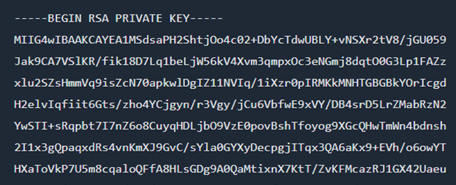 how to create a private key