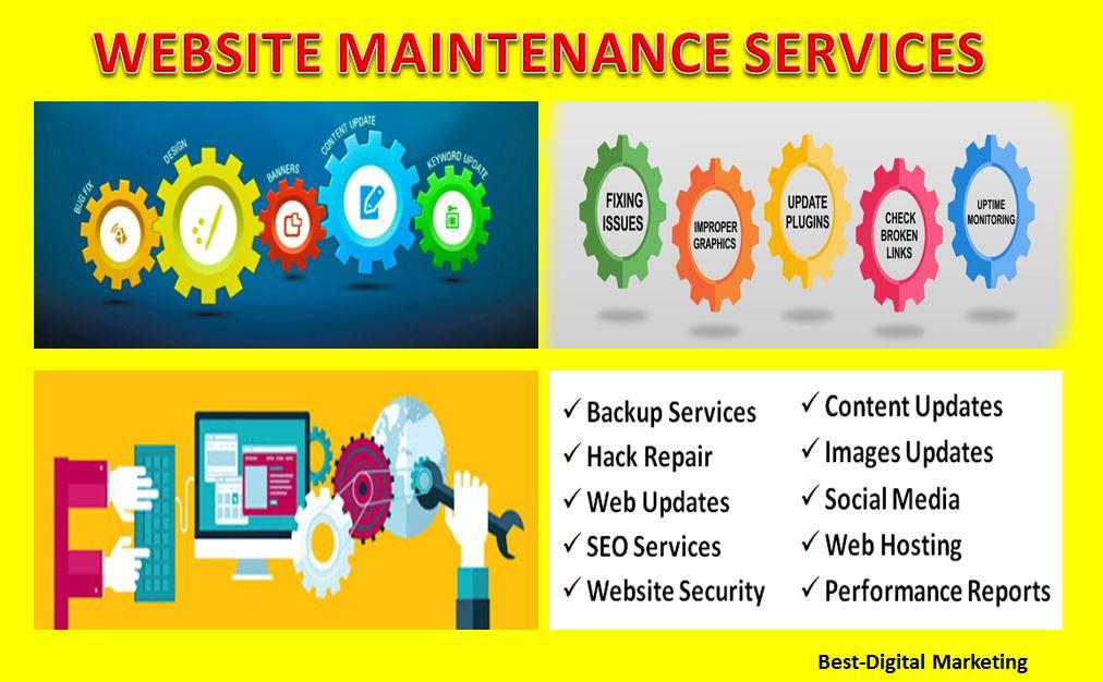 website maintenance & support services